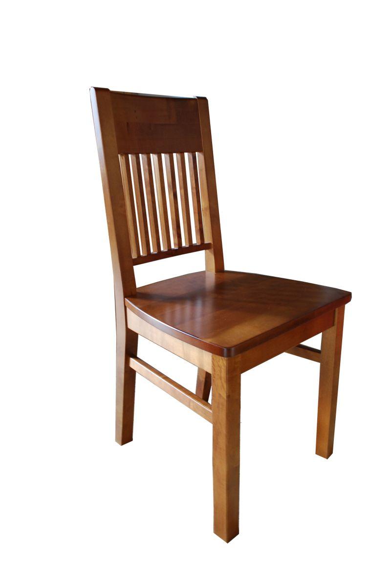 krzesło z litego drewna